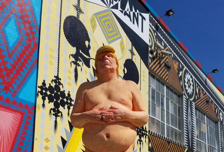 川普裸體塑像在前年大選期間曾在美國多座城市出現。美聯社