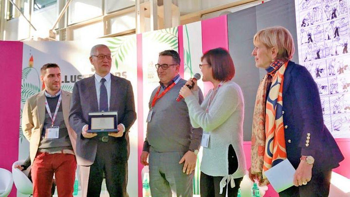 「三毛之父」張樂平日前獲得義大利博洛尼亞國際兒童書展無字書大獎,這是中國畫家第一...