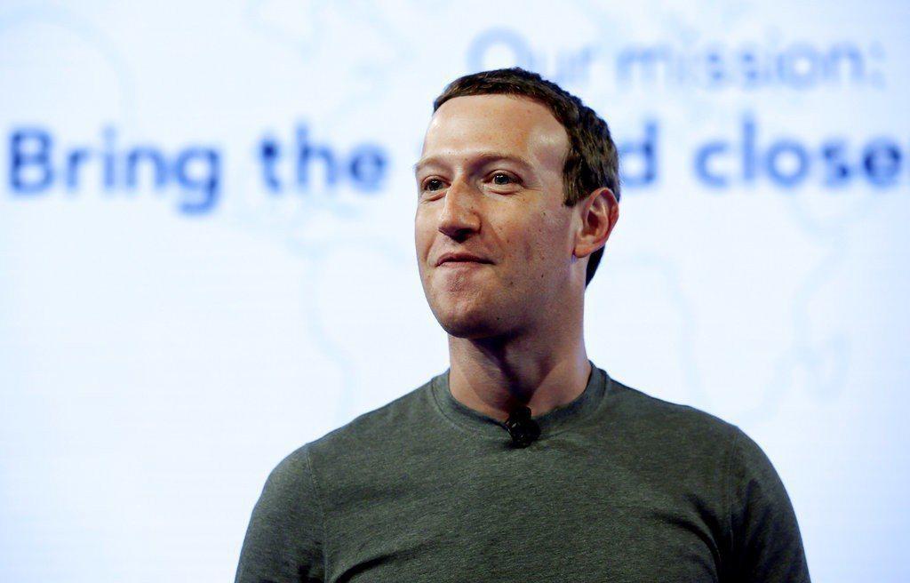 臉書創辦人祖克伯。聯合報系資料照片。美聯社