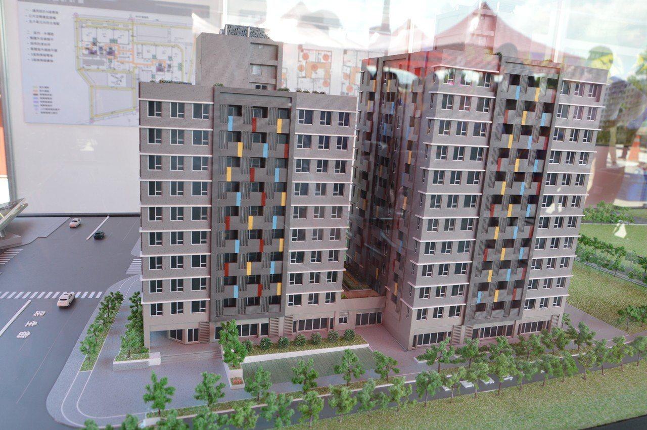 三峽國光青年社會住宅模型。 聯合報系記者施鴻基/攝影