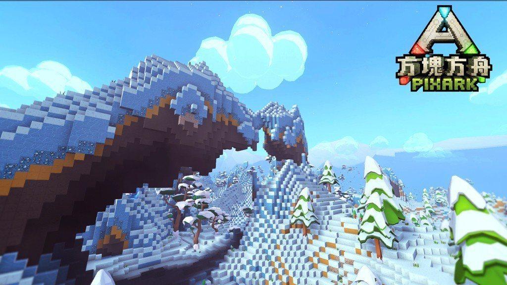 ▲《方塊方舟》雪山場景。