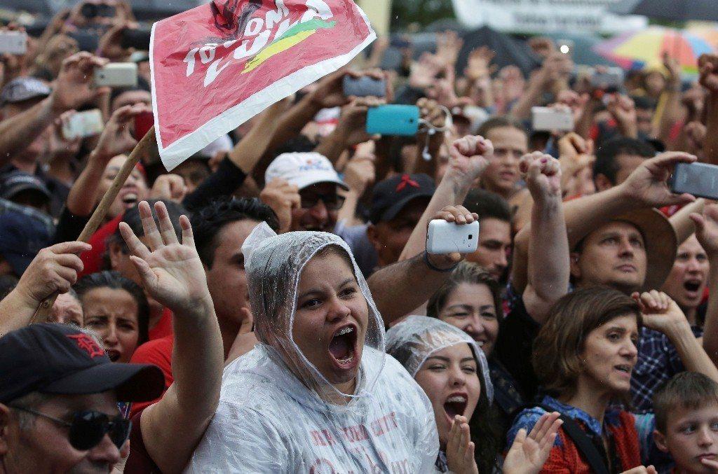 魯拉支持者激動。 圖/美聯社