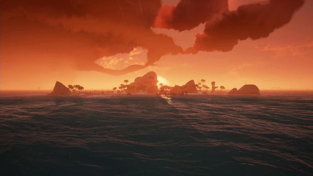 有時候就連輝映著夕陽的沿海村落也讓人陶醉。