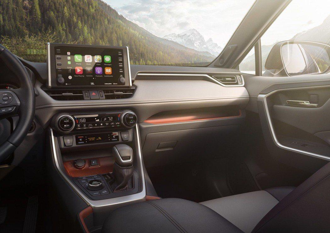 中控螢幕為7吋,也可選配至8吋。 摘自Toyota