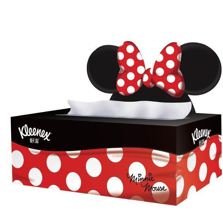 舒潔迪士尼造型面紙盒2串,原價99元,促銷買1送1。圖/頂好提供
