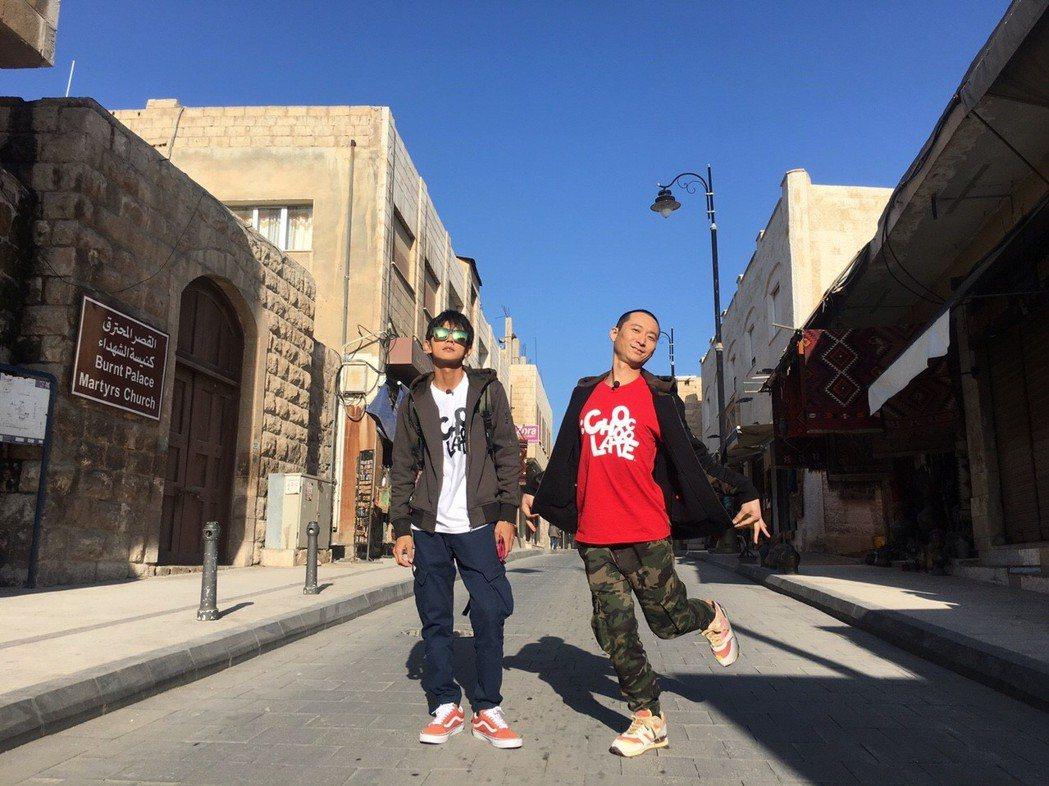 浩子、阿翔發去約旦,終於合體出外景。圖/TVBS提供