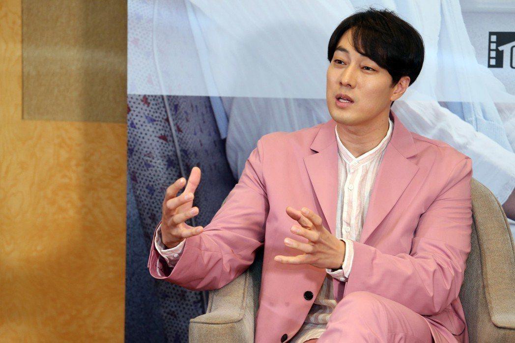 韓星蘇志燮27日來台,為電影「雨妳再次相遇」宣傳。記者徐兆玄/攝影