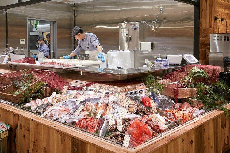 在店裡還能買到新鮮魚貨。圖/無印良品提供