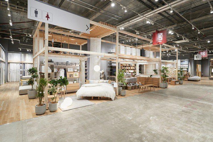 無印良品堺北花田店整體空間相當舒適寬敞。圖/無印良品提供