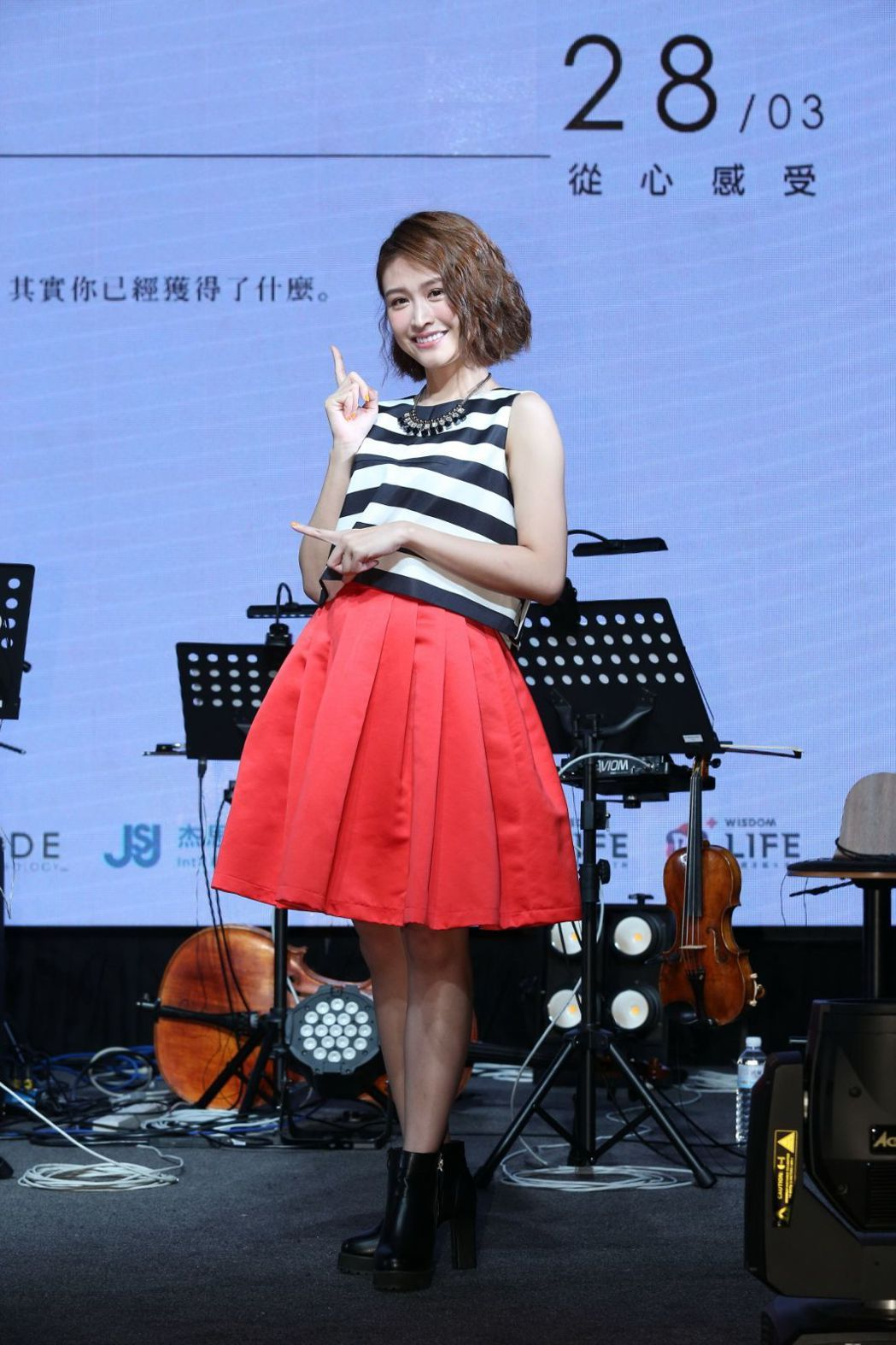 黃若熙昨辦音樂分享會,師兄黃明志驚喜站台。圖/杰思國際娛樂提供