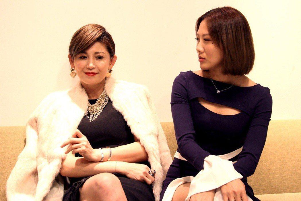 鄭仲茵(左)大牙被封「史上最惡心母女檔」。圖/三立提供