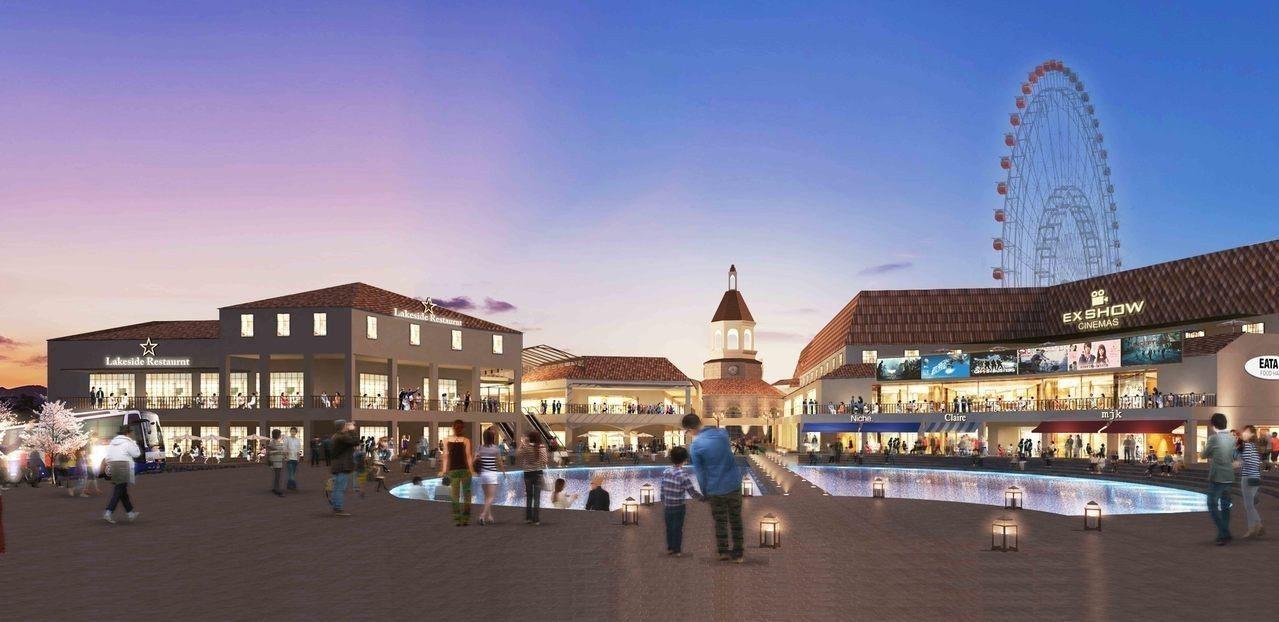 麗寶Outlet Mall進行二期招商,將打造全台首座湖邊購物天堂。圖/麗寶Ou...