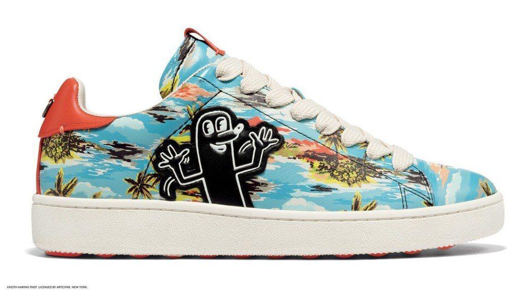 COACH X Keith Haring夏威夷風休閒男鞋,售價12,800元。圖...