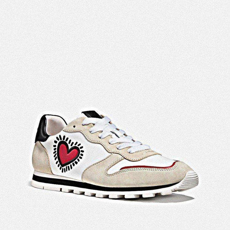 COACH X Keith Haring休閒鞋女款,售價11,800元。圖/CO...
