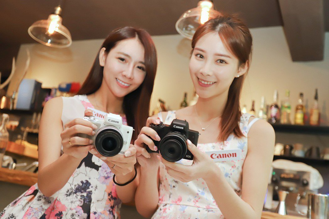 Canon EOS M50迷你單眼相機支援4K錄影,價格走親民路線。 彭子豪/攝...