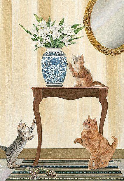 柯鴻圖作品《貓的幸福人間》。 臺華藝術中心/提供