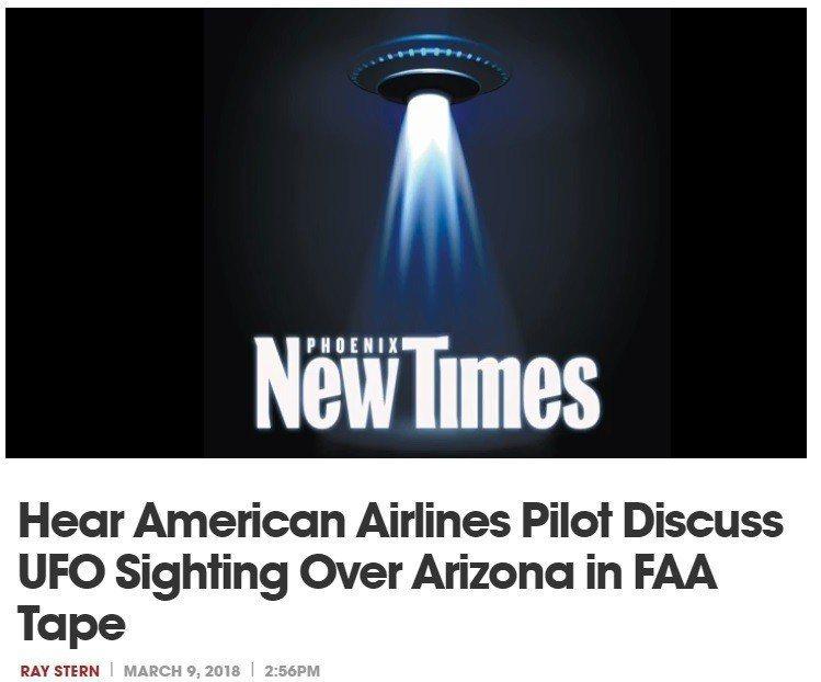 美國聯邦航空總署(FAA)最近公布,2家航空公司的飛行員,駕機飛越亞利桑那州上空...