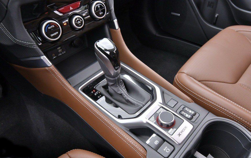 將傳統手煞車移除改為電子手煞車。 摘自Subaru