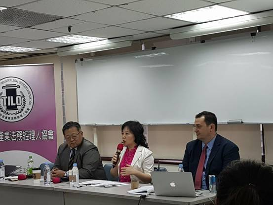 From left: TILO chair James Yuan, Judge ...