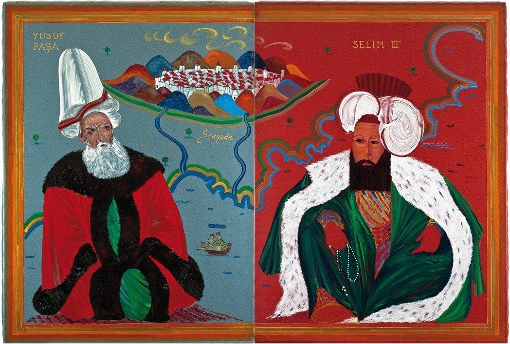 蒙迪諾 Granada 1996 油氈油畫 190x280cm