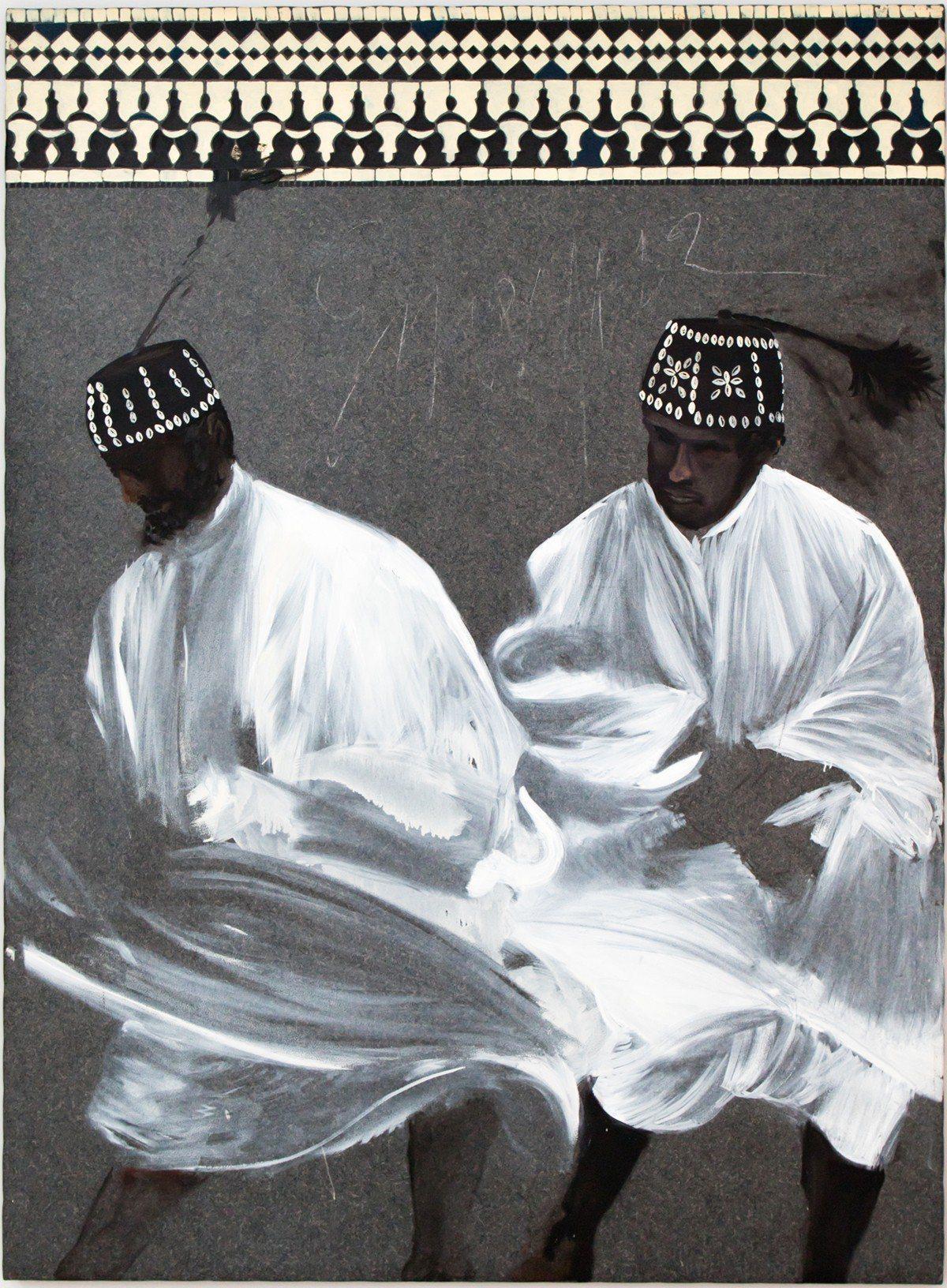 蒙迪諾 Gnawa 1997 油氈油畫 190x140cm