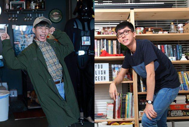 網紅林進(左)、阿滴(右) 。 邱劍英、陳應欽 攝