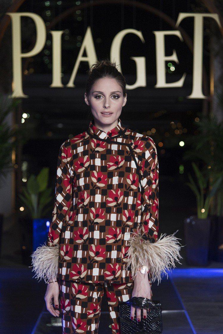 伯爵的品牌好友美國第一名媛Olivia Palermo特地現身杜拜。圖/伯爵提供