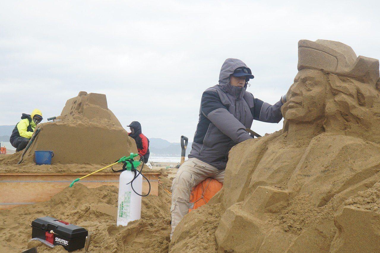 2018福隆國際沙雕藝術季將登場,4月4日起搶先開放「沙雕搶先看」。圖/福容大飯...