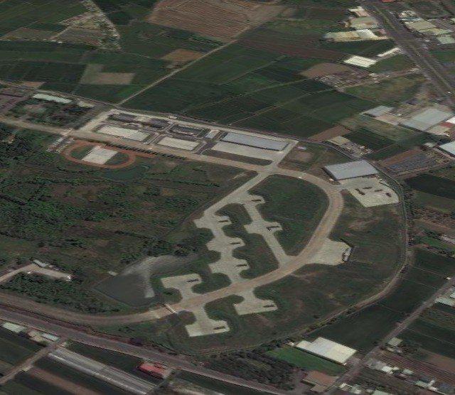 國軍完工的愛國者飛彈陣地又一處在商用衛星照上曝光,嘉義水上空軍基地周邊興建的飛彈...