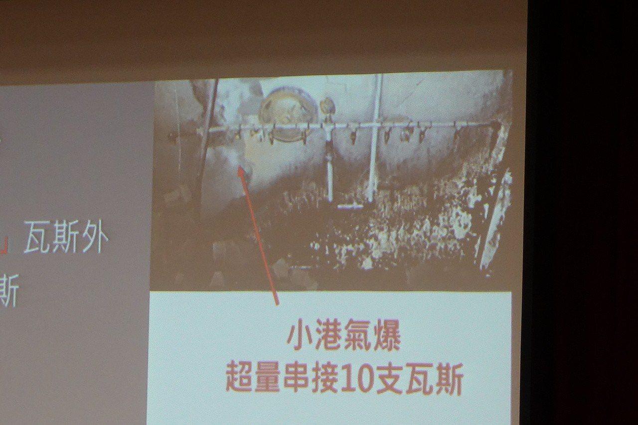 高市小港區便當店瓦斯氣爆,現場超量串接10支瓦斯。記者劉星君/翻攝