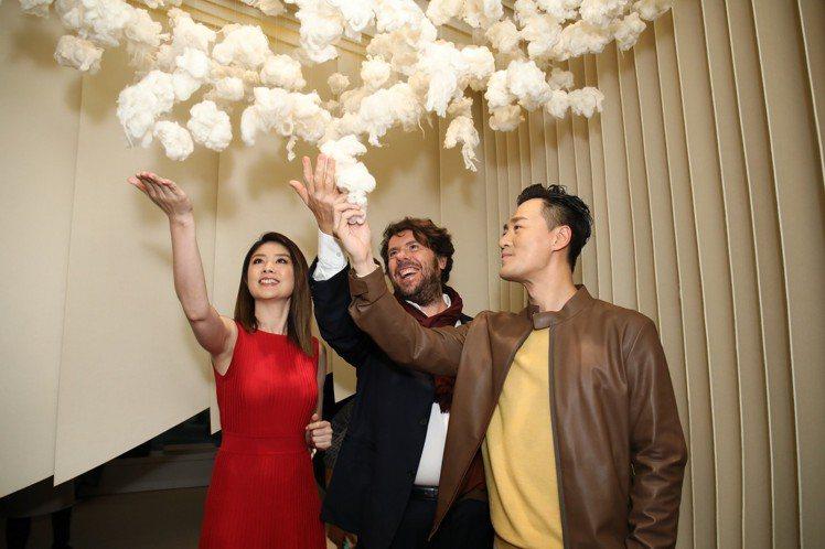 (左起)陳慧琳、Loro Piana的CEO Fabio d'Angelanto...