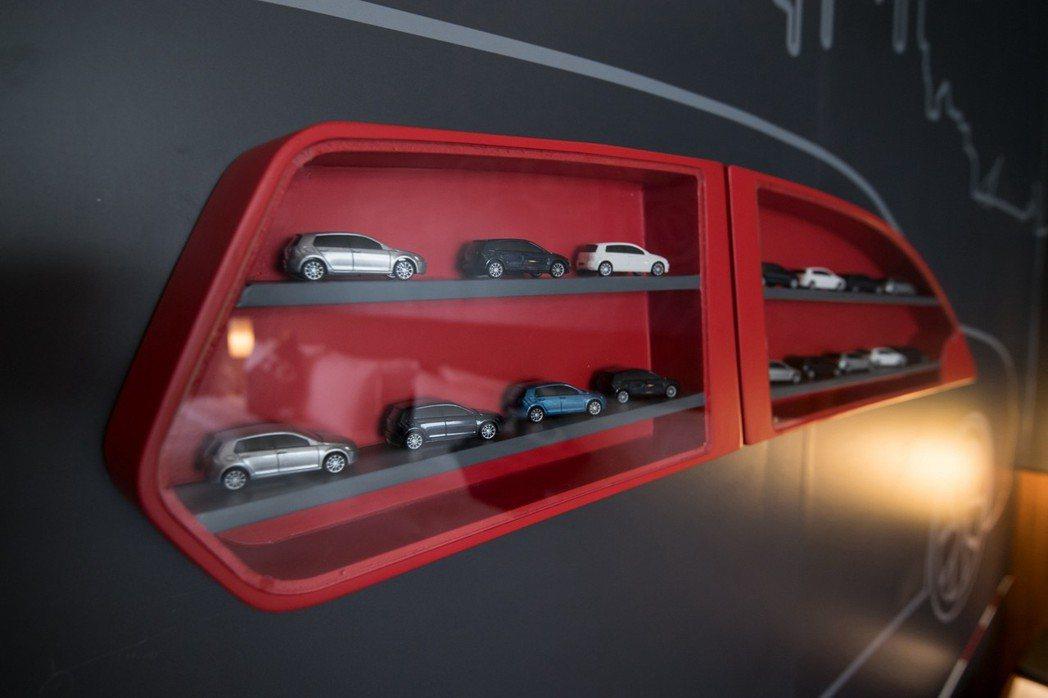 性能房中的1:70展示模型相當精緻。 圖/台灣福斯汽車提供