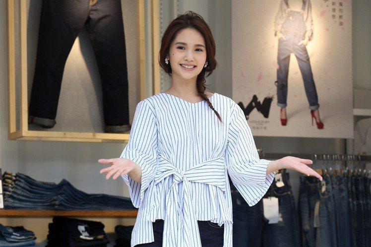 藝人楊丞琳為日本品牌牛仔褲代言。圖/記者曾吉松攝影