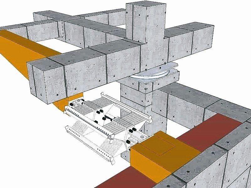 美濃地震ASBD隔震系統結構圖。 新光鋼阿爾格/提供