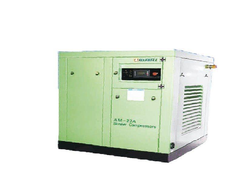 漢鐘精機推出國產第一台22KW、30HP的永磁變頻空壓機。 漢鐘精機/提供