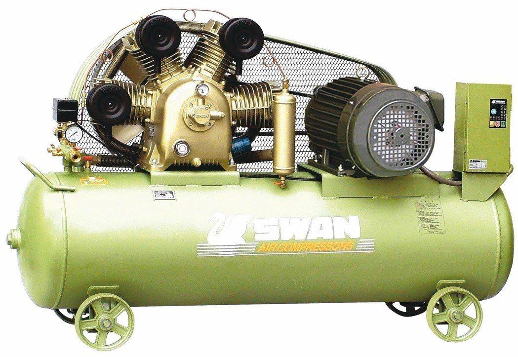 東正SWAN天鵝牌空壓機,符合政府能效補助最高標準。 東正鐵工廠/提供