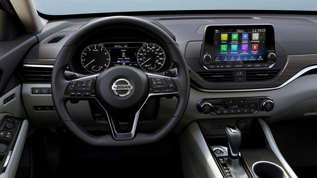 三幅式方向盤上有許多快捷按鈕。 摘自Nissan