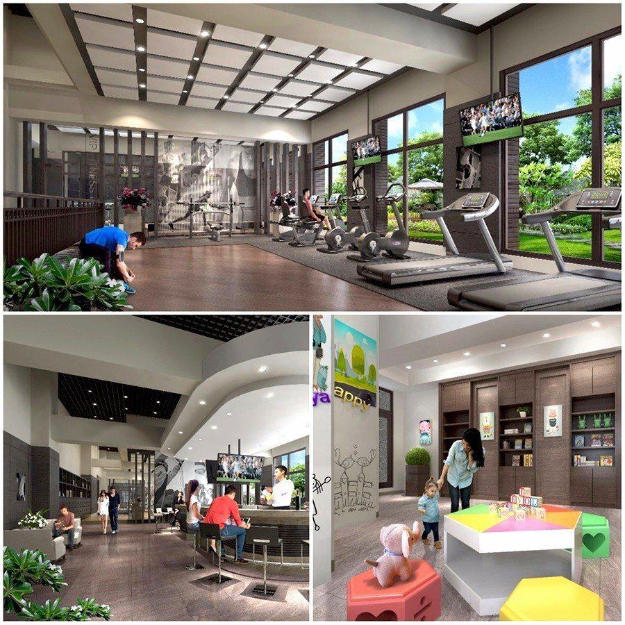 豐富多元的休閒設施 可讓居家生活更加多彩多姿 圖/合陽天擎 提供