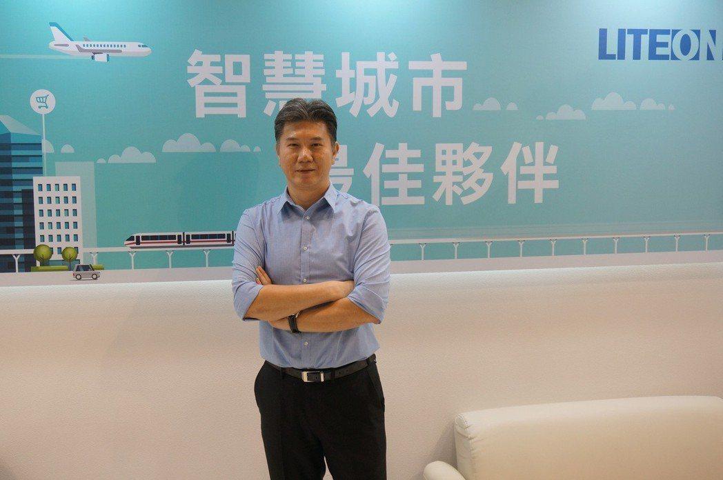 光寶科技智能生活與應用事業群行銷營運總監安志東。蘇璽文/攝影