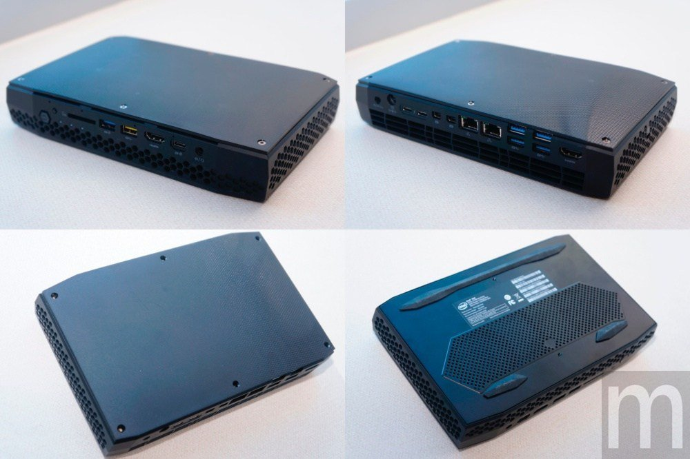 整體外觀,I/O埠分別包含兩組HDMI 2.0a、兩組mini DisplayP...