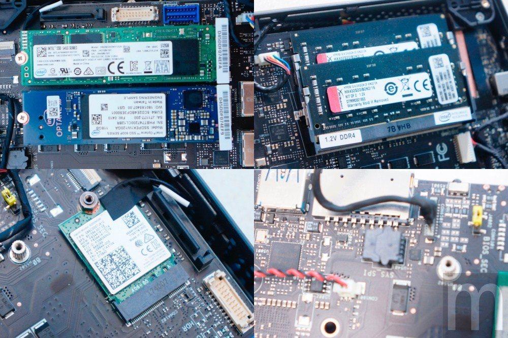 原本NUC所有記憶體與SSD應該要額外配置,但此次測試設備中,Intel直接預裝...