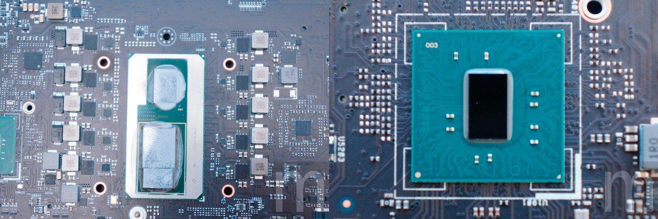 Intel Core i7-8809G處理器採取CPU、GPU個別供電設計,其中...
