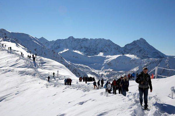 波蘭塔特拉山脈卡斯普羅峰。歐新社