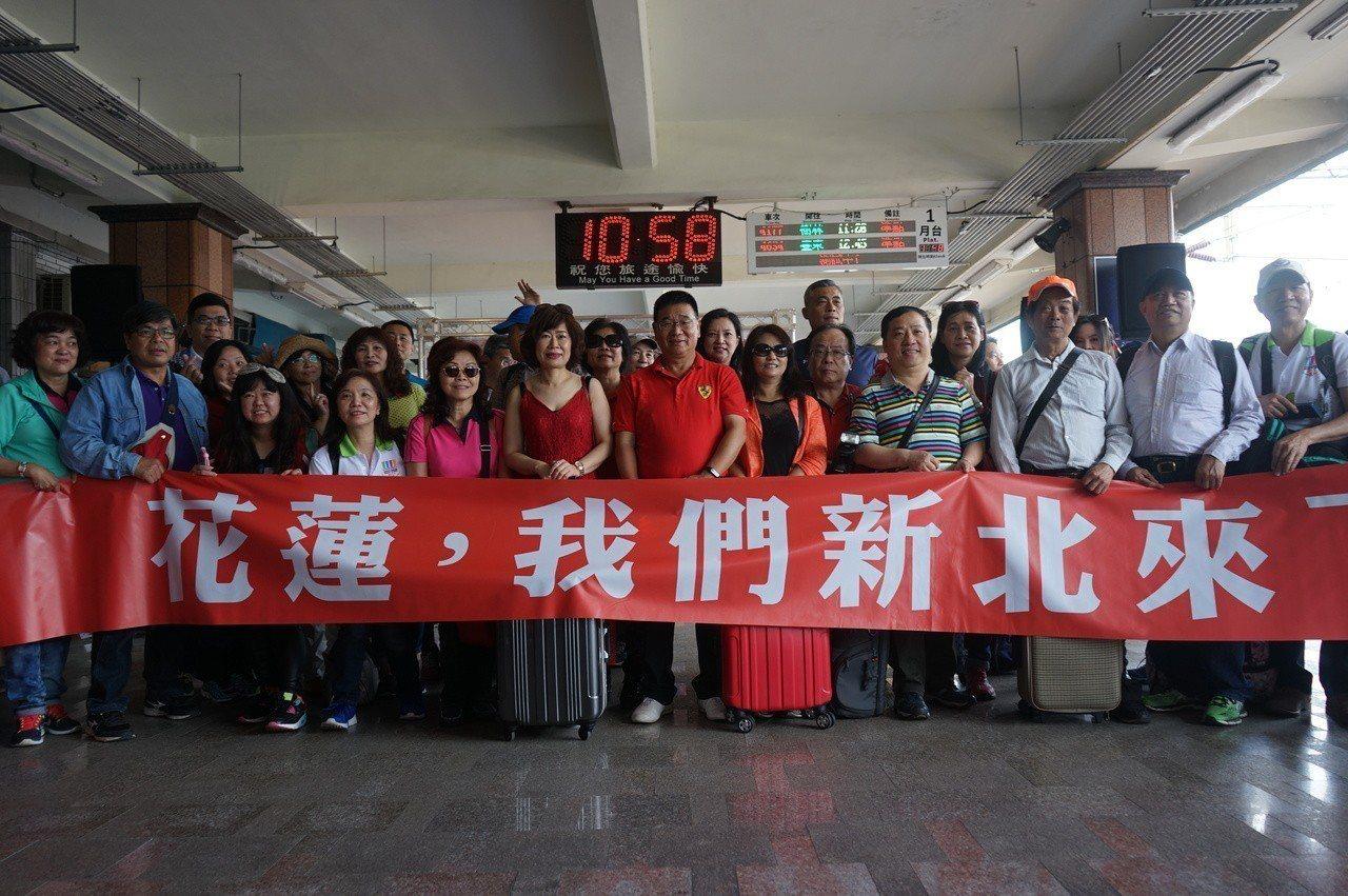 新北市府組成旅遊團,今天到花蓮小旅行,以實際行動溫暖花蓮。記者王燕華/攝影