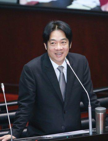 賴清德。聯合報系資料照/記者陳柏亨攝影