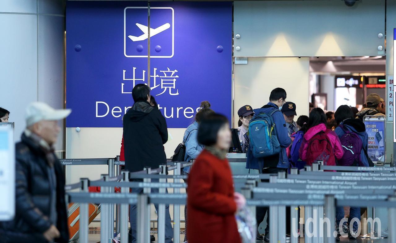 桃園機場第2航廈出境大廳。記者陳嘉寧/攝影