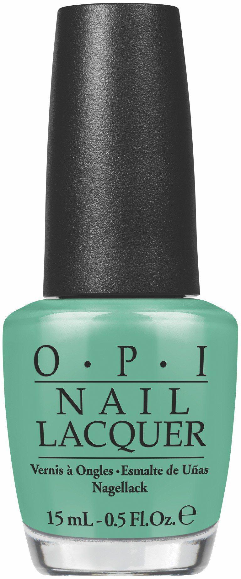OPI推薦4款春夏熱銷的藍綠色系指彩,圖為#NLN45極北國度。圖/OPI提供