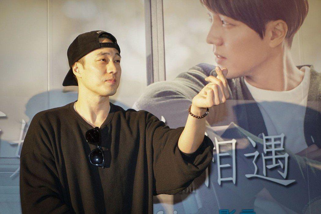 男神蘇志燮先前訪台宣傳電影「與妳再次相遇」。圖/車庫提供