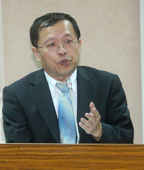 陸委會副主委張天欽。聯合報系資料照