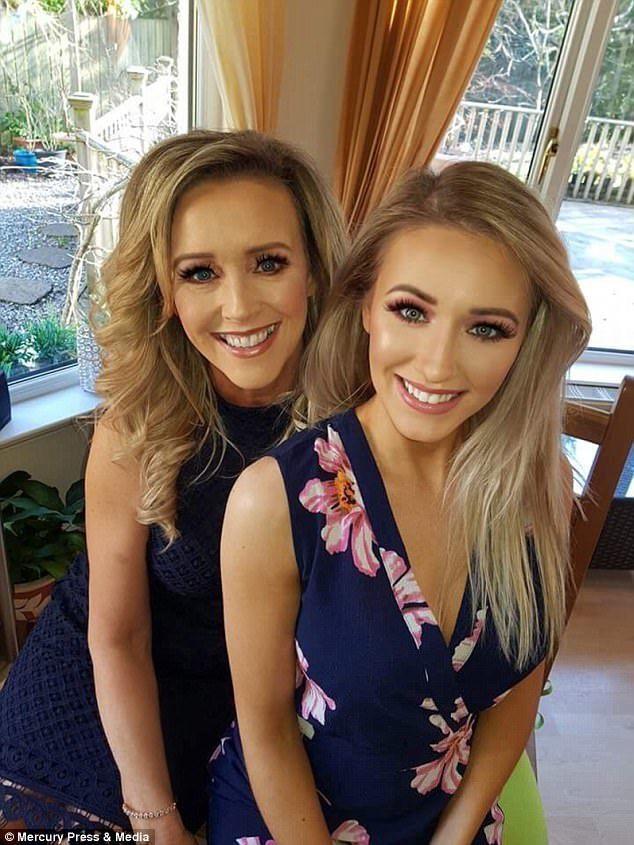 洛麗(左)與女兒看起來形同姐妹。圖/取自《每日郵報》